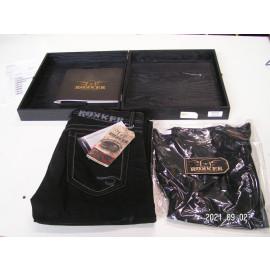 Restposten: ROKKER Jeans Rokkstar (W33/L34) incl T-Shirt Gr. L, schwarz