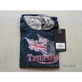 B-Ware:Triumph Ethan Boy Hooded T-Shirt, blau, Kinder, Kapuze, Größe 5/6