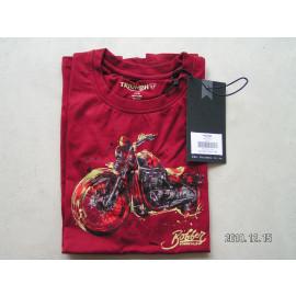 B-Ware: Triumph Kinder T-Shirt, rot, Bonneville Aufdruck, Größe 5/6